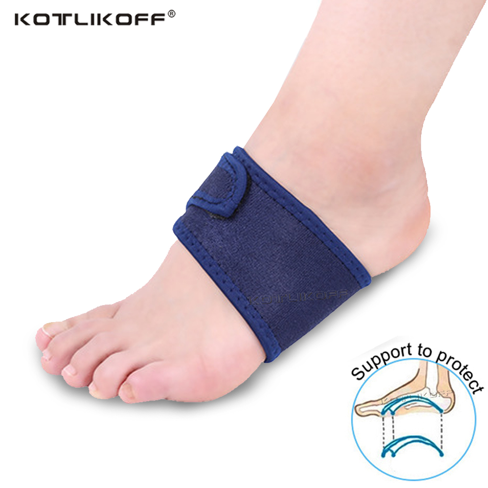 Breathable Elastic Silica Gel High Arch Orthotics Bandage For Heel Foot Pain Relief Plantar Fasciitis Orthopedic Insoles