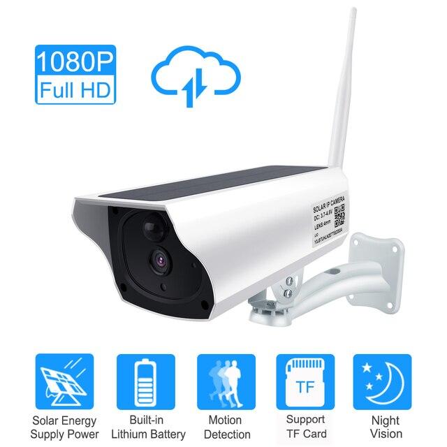 ZILNK cámara Solar para exteriores, inalámbrica, WIFI, CCTV, 1080P, 2.0MP, HD, seguridad impermeable, vigilancia, energía Solar, IP, en la nube