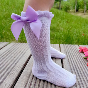 0-4T Neugeborenen Baby Mädchen Bowknot Mittleren Rohr Socken Bogen Knie Hohe Lang Baumwolle Spitze Baby Socken Komfortable kinder Prinzessin socken