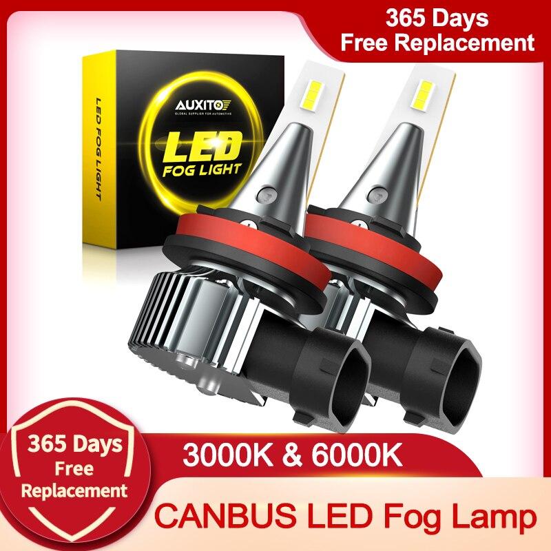 AUXITO 2x H8 H11 H9 Led H16 JP туман светильник s лампы CSP 2000LM 3000K 6500K H10 белый вождение автомобиля ходовой огонь автоматические светодиоды светильник 12V 24V