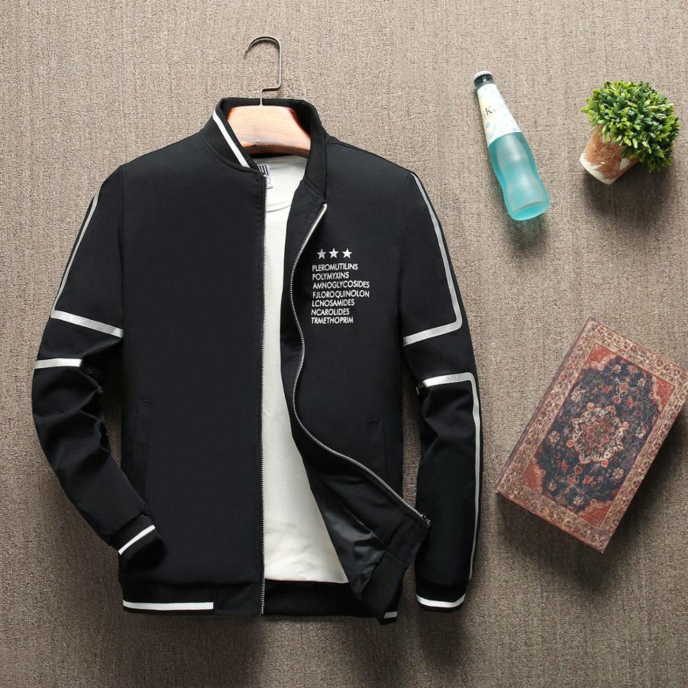 New Men's Bomber Zipper Jacket Autumn Male Casual Streetwear Hip Hop Slim Fit Pilot Coat Men's Clothing Plus Size 4XL ,GA463