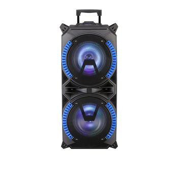 Dual 8-inch Wireless Portable Trolley Speakers With USB High-Power Bluetooth Compatible Indoor And Outdoor DJ Stereo