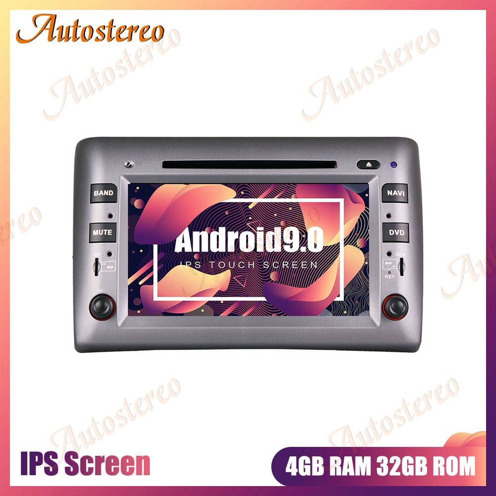 Android 9.0 Car DVD Player Car GPS Navigation For Fiat Stilo 2002-2010 Multimedia Player Stereo Head Unit Auto Radio HD Screen