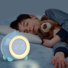 Mini horloge numérique de sommeil, veilleuse, réveil numérique pour enfants, simulateur de lever du soleil, horloge lumineuse nocturne