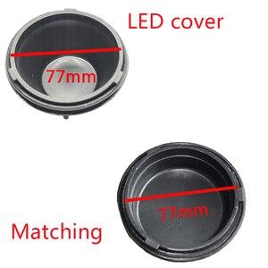 Image 5 - 1 pc עבור kia K2 2009 2013 מנורת עם מורחב חזרה כיסוי אבק כיסוי LED פנס איטום כיסוי H4 הנורה אחורי כובע