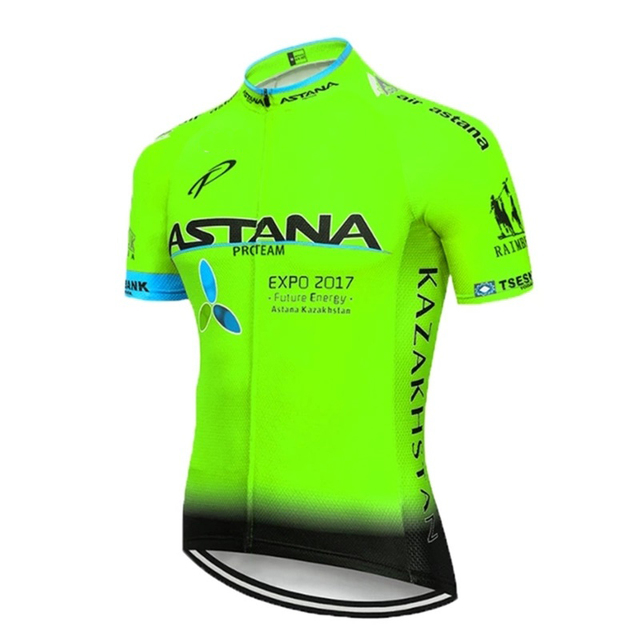 2020 Team ASTANA White Cycling Clothing Bike Jersey Ropa Mens Bicycle Summer Pro Cycling Jerseys 20D