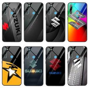 Gorące Suzuki Gsxr Gsx R Logo szkło hartowane etui na telefony dla Xiaomi Redmi uwaga 4 4X 5A 5S 6X 7 7A 8 8A 9 SE A1 A2 Lite Plus Shell