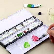 Pigment-Paint Grid Watercolor Storage-Box-Tool Empty-Iron-Box Art Block/case/Box Subpackage