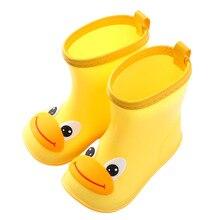 Детская непромокаемая обувь Нескользящая милая детская водонепроницаемая обувь всесезонные непромокаемые сапоги для детей