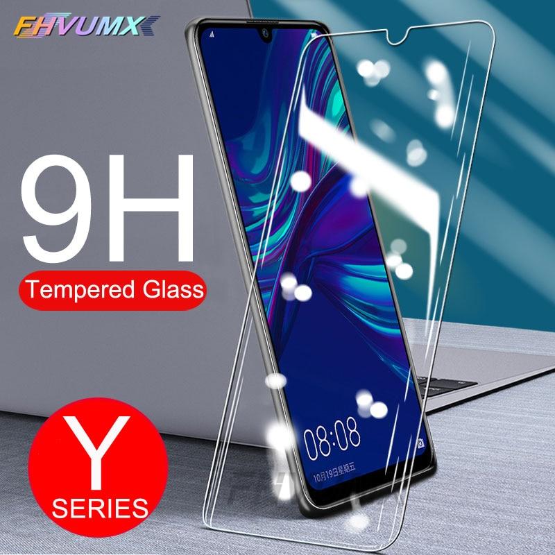 9H Protective Glass For Huawei Y5 Lite Y6 Y7 Prime 2018 Y7S Y6 Y7 Pro Y9 2019 Tempered Glass P Smart 2019 Screen Protector Film