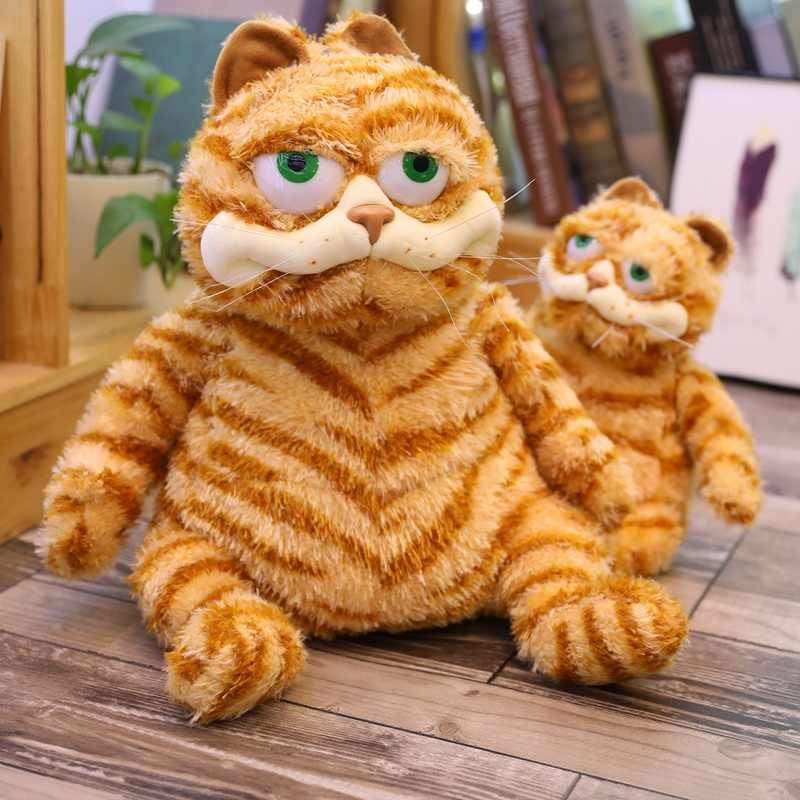30 45cm Cartoon Animals Cat Plush Toy Big Eyes Fat Cat Garfield Plush Toy Soft Anime Stuffed Animal Doll For Kids Birthday Gift Stuffed Plush Animals Aliexpress