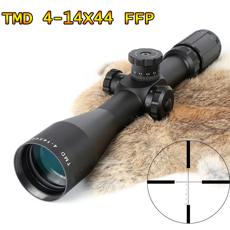 TMD 4 14X44 FFP Hunting Riflescope First Focal Plane Glass Mil Dot Reticle Tactical Optics Sight Side Parallax Rifle Scope|Riflescopes|   - AliExpress