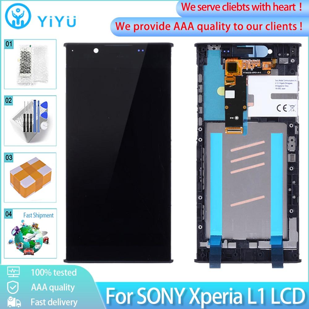 Оригинальный ЖК-дисплей 5,5 дюйма с рамкой для SONY Xperia L1 G3312 G3311 G3313, ЖК-дисплей с сенсорным экраном и дигитайзером для Sony L1, ЖК-дисплей с инструме...
