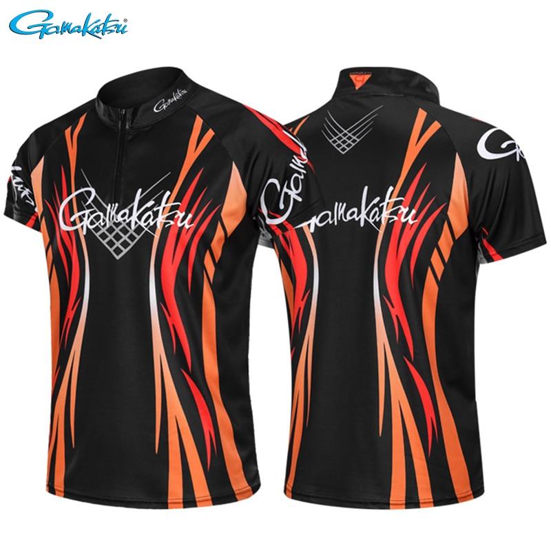 Gamakatsu 2020 New Fishing Clothing Quick Drying Outdoor Sports Fishing Clothes Breathable Anti-UV Short Sleeve Fishing Shirts