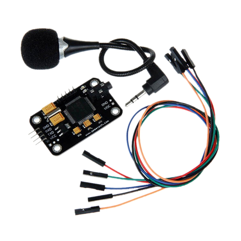 Hot 3C-Voice Recognition Module With Microphone Dupont Speech Recognition Voice Control Board For Arduino Compatible