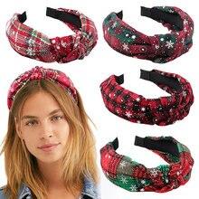 Повязка для волос женская повязка на голову в рождественском