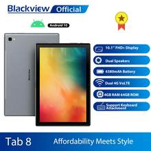 Blackview Dual 4G VoLTE Tablet Telefon 2in1 Tablet Smartphone Octa Core 10,1 Zoll 4GM + 64GM Android 10,0 6580mAh Gesicht Entsperren Tab 8(China)