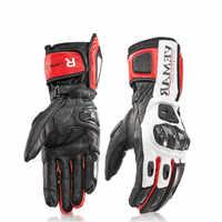 Nuevo cuero moto rcycle guantes de los hombres guantes protectores de Racing moto Cruz guantes luvas moto ciclismo guantes para moto