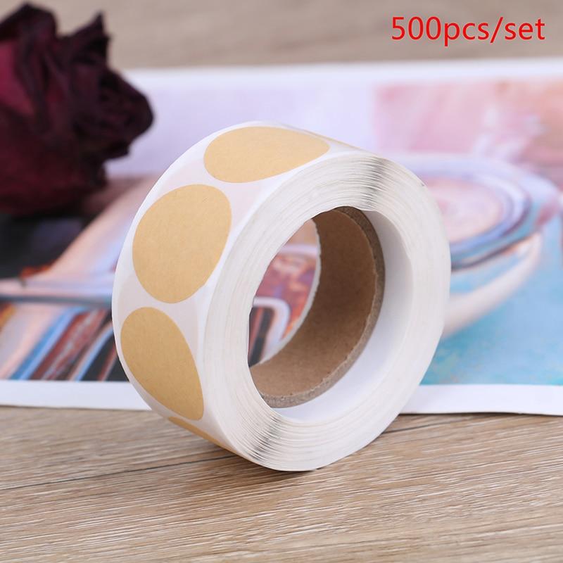 500 pcs/set Kraft Paper Sticker Labels Scrapbooking Blank Cowhide Sticker Sealing Sticker For Packag