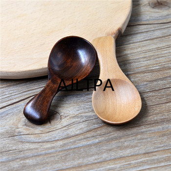 100Pcs/lot Wood Spoons Small Handled Spoon Kids Spoon Wood Rice Soup Dessert Spoon Coffer Tea Milk Powder Spoon CT0181 фото