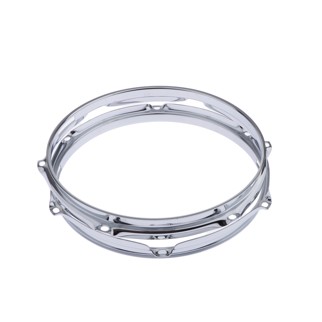 2 Pcs Solid 6 Lug Drum Hoop Snare Side Hoop (10 Inches 1.5mm)