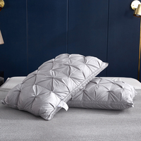 Goose down Pillow 48*74cm 3D Bread White Duck/Goose Down Feather Pillow Standard Antibacterial Keep warm Pick flowers pillow