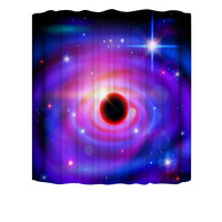 Brand New Cosmic Starry Black hole Pattern Waterproof Shower Curtain with 12 Hooks 3D Printed Bathroom Accessories Polyester Set