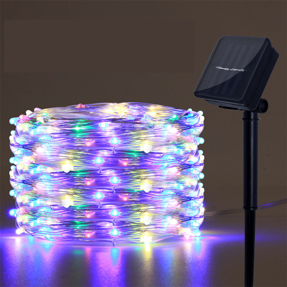 Led Outdoor Solar Lamps 1m 2m 3m 4m 5m 10m Leds String Lights Fairy Holiday Christmas Party Solar Garden Waterproof Lights Solar Lamps Aliexpress