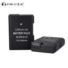 Batteries de caméra ENEL14 RU EL14, 7.4 V, 1200 mAh, 2 pièces, pour Nikon D5200 D3100 D3200 D5100 P7000 P7100