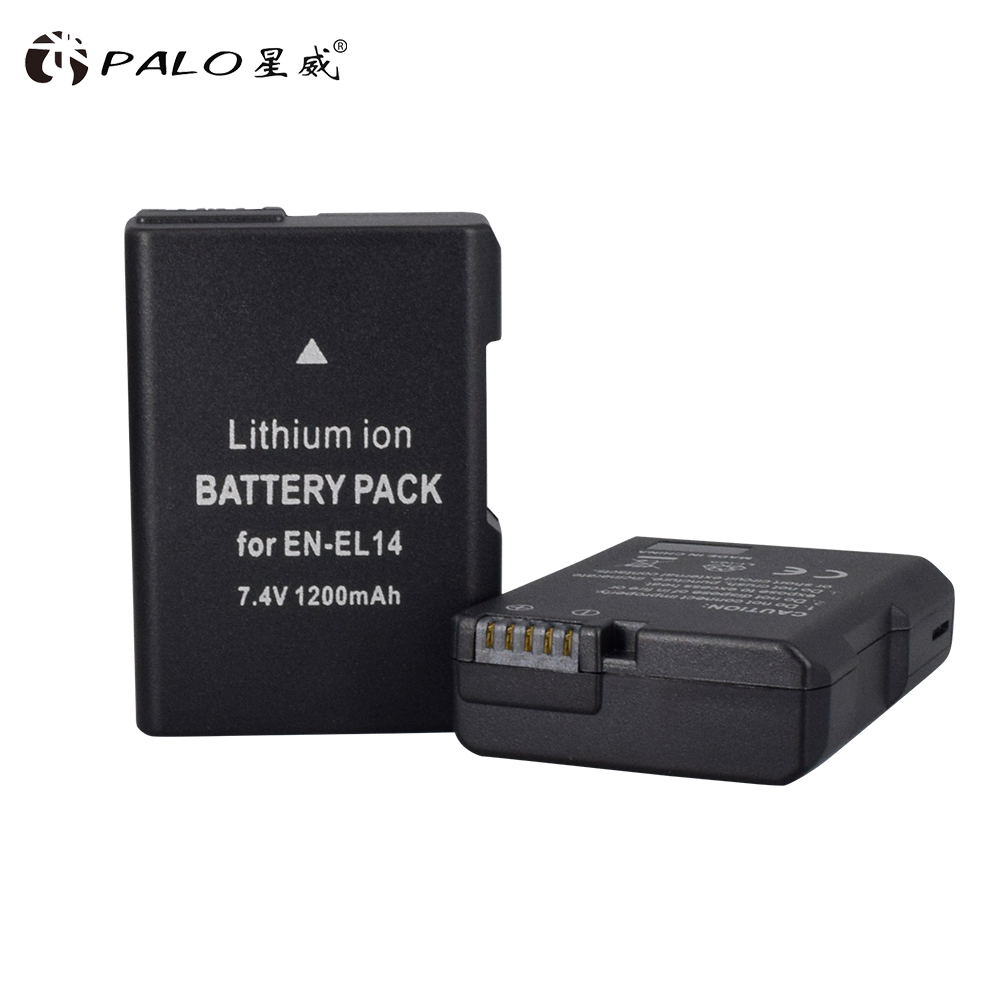 2pcs 7.4 <font><b>V</b></font> 1200 mAh EN-EL14 <font><b>batteries</b></font> ENEL14 RU EL14 camera <font><b>battery</b></font> pack for Nikon D5200 D3100 D3200 D5100 P7000 P7100 MH-<font><b>24</b></font> image