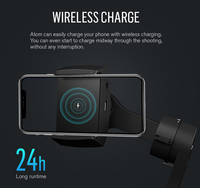 Snoppa atom 3-axis πτυσσόμενος αναδιπλούμενος βραχίονας selfie για smartphone gopro