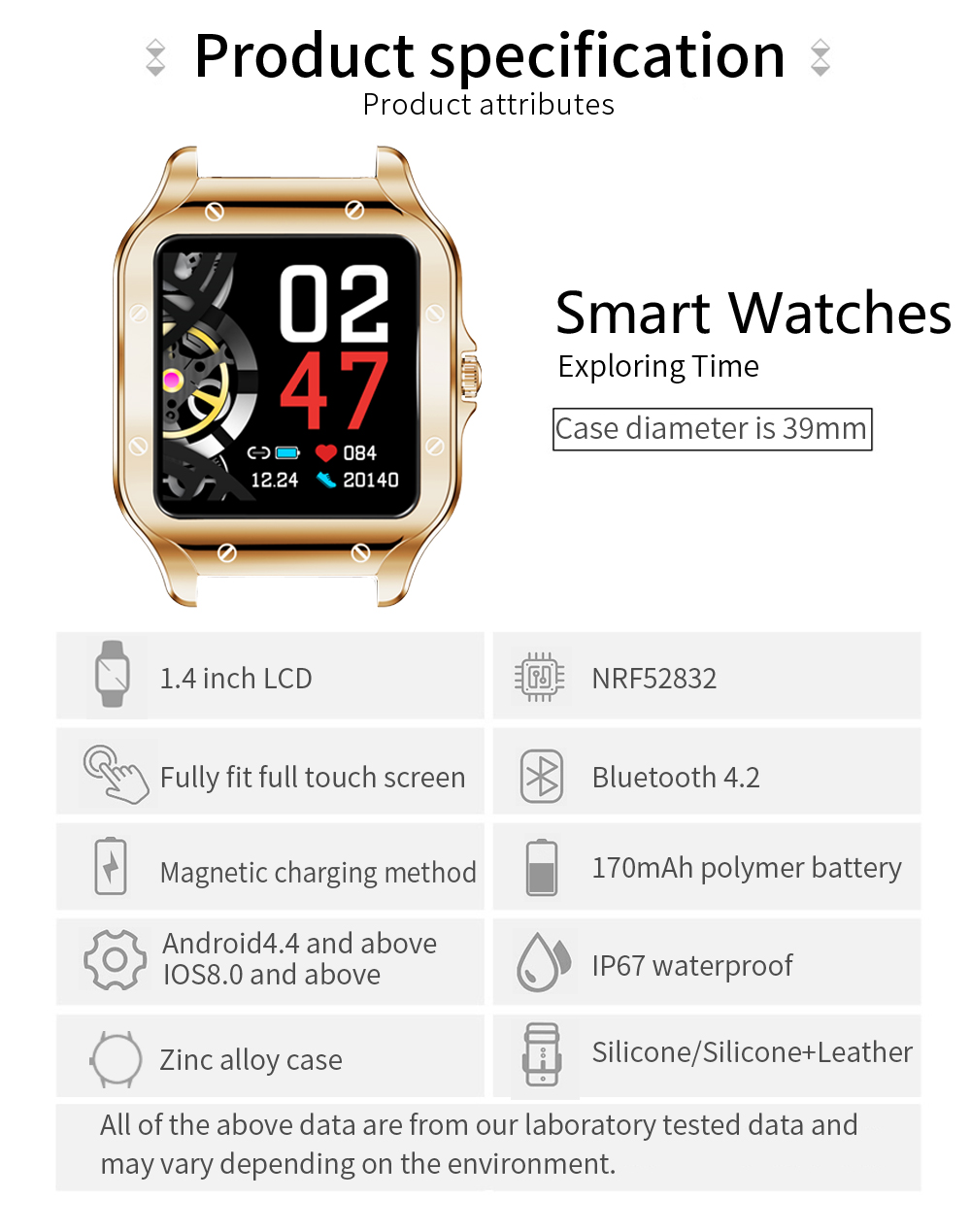 COLMI Land 2S Men Smart Watch for Android Phone 15