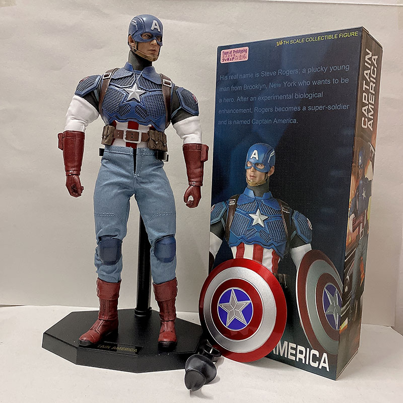 Crazy Toys Marvel Avengers American Captain America Figure Collectible Model Toys Super Hero Action Figure Team Of Prototyping