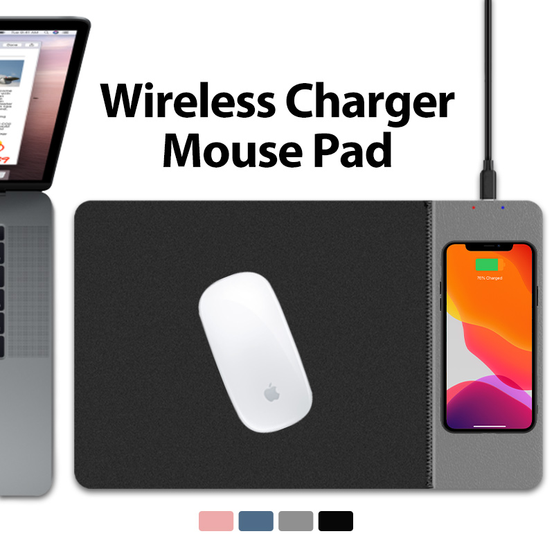 Game Mouse Pad Mobile Phone Wireless Charger Mouse Pad Mat PU Leather Mousepad For IPhone X/8Plus Samsung S9 2019 USB2.0