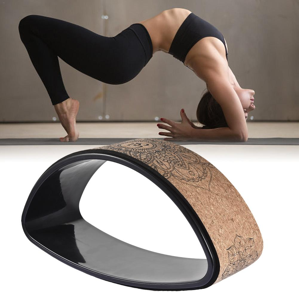 New Fitness Pilates//Yoga Stretching Roller Ring Wheel Back Stretch Workout