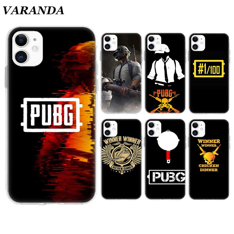 PUBG winner <font><b>chicken</b></font> <font><b>Case</b></font> for <font><b>Apple</b></font> <font><b>iPhone</b></font> 11 X XR XS Max 7 8 <font><b>6</b></font> 6S Plus 5 5S SE 5C Silicone Cover Phone Coque Shell image