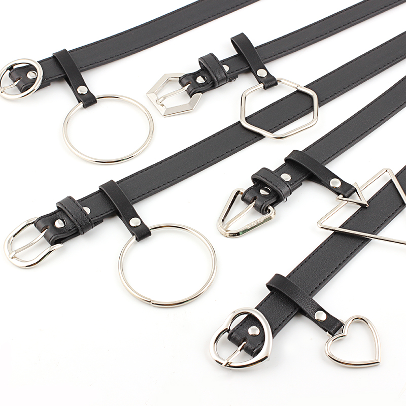 Fashion Women Faux Leather Heart Accessory Adjustable Buckle Belt Waistband Women Belt Metal Party Dress Decor Size 105 Cm