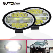 144W led light bar 12V 24V 48Led flash work light spotlight For 4x4 4WD offroad accessories Trucks Tractor Excavator Car SUV ATV