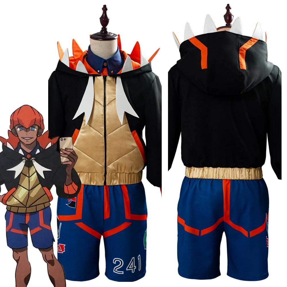 Pokemon Sword /& Shield Raihan Shoes Cosplay Men Boots