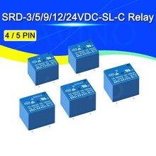5 adet röle SRD-5VDC-SL-C SRD-12VDC-SL SRD-3VDC SRD-9V röleler 4/5PINS 12V DC yüksek kaliteli Javino
