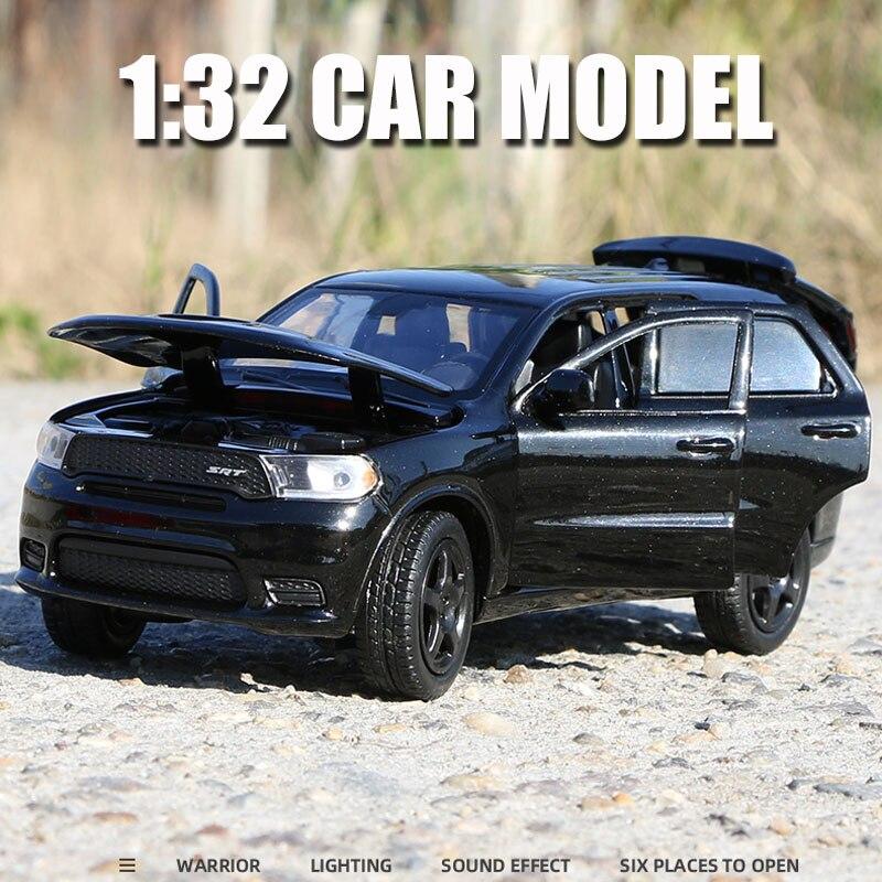 Dodge Durango SRT – modèle de voiture de sport en alliage, moulé sous pression, son et lumière, Super course SUV, jouets de Collection pour enfants, noël, 1:32