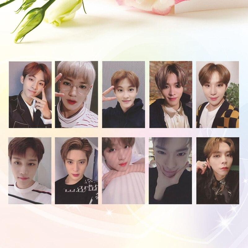 10Pcs/Set K-POP NCT127 Regulate Self Made DIY Photocard Paper Cards Poster