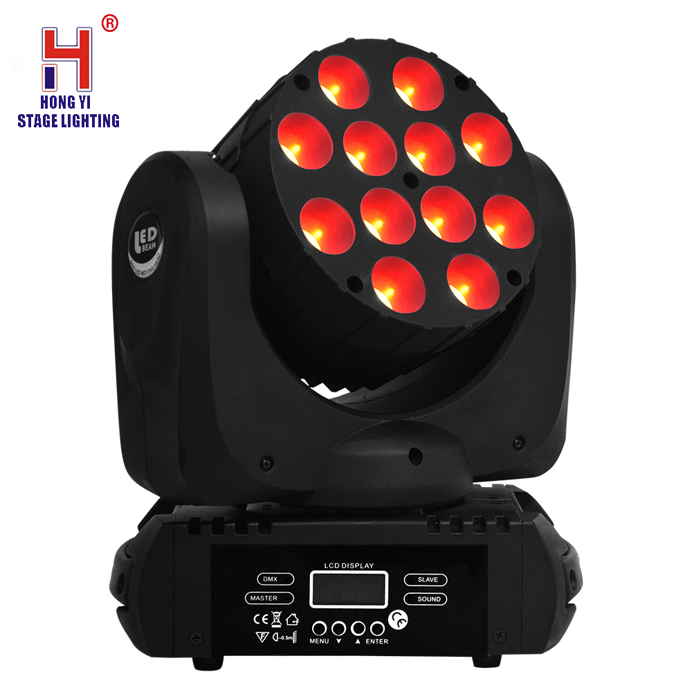 Effet de mélange de couleur RGBW 4in1 effet de stroboscope de lumière de faisceau principal mobile de 12x12W LED bon pour la partie de Disco DJ