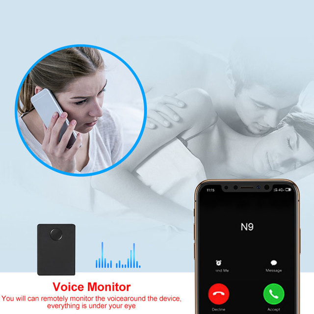 Mini Spy GSM Device N9 Audio Monitor Listening Surveillance 12 Days Standby Time Personal Mini Voice Activation Built in Two MIC 2