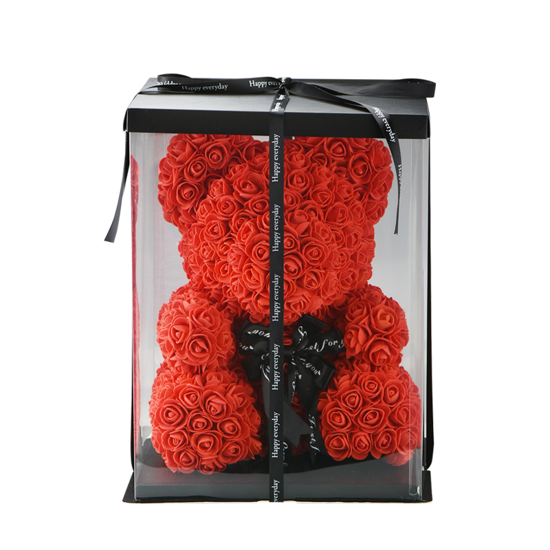 Image 3 - 2019 Wholesale Cheap 40cm Red Bear Rose Teddy Bear Rose Flower Artificial Decoration Christmas Gifts for Women Valentines Gift-in Artificial & Dried Flowers from Home & Garden