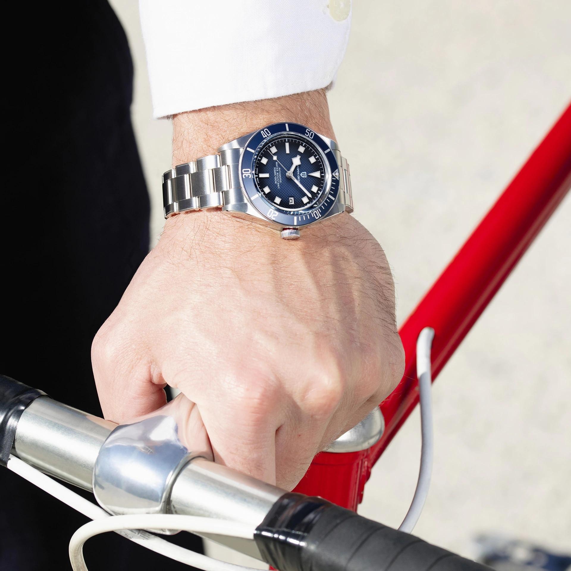 2021 New PAGANI DESIGN BB58 Men's Watches Mechanical Watch For Men Luxury Automatic Watch Men NH35/8215 Waterproof Reloj Hombre 2
