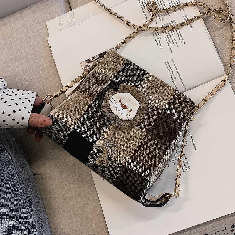 Estate Mini Sacchetto Femminile 2020 di Nuovo Modo di Stile Coreano All-partita Messenger Bag Catena Del Sacchetto di Spalla Del Plaid della ragazza sacchetto di Stile estero