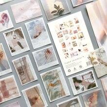 50 sztuk/partia ukochany Van Gogh serii Journal dekoracyjne naklejki Scrapbooking Stick etykiety pamiętnik Album podróży papiernicze naklejki