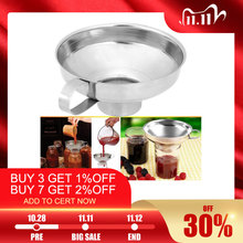 Canning Funnel Stainless Steel Wide Mouth Canning Funnel Hopper Filter Leak Wide Mouth Can for Oil Wine Kitchen Cooking Tools