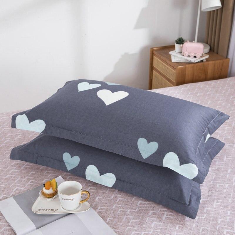 "2pcs/lot bed pillow case 19*29"" printed Pillow Slip single pillowcases 48*74cm"